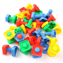 Crown Price Childrens toys creative collage building blocks-splicing building blocks-screw building blocks pairing screws