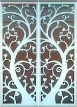 Set antique screen partition porch carved wooden TV background Wall Hollow porch love rich fortune tree