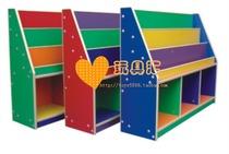 幼儿园柜储物柜 组合柜儿童玩具柜 收拾柜-彩色豪华书柜 双用柜子