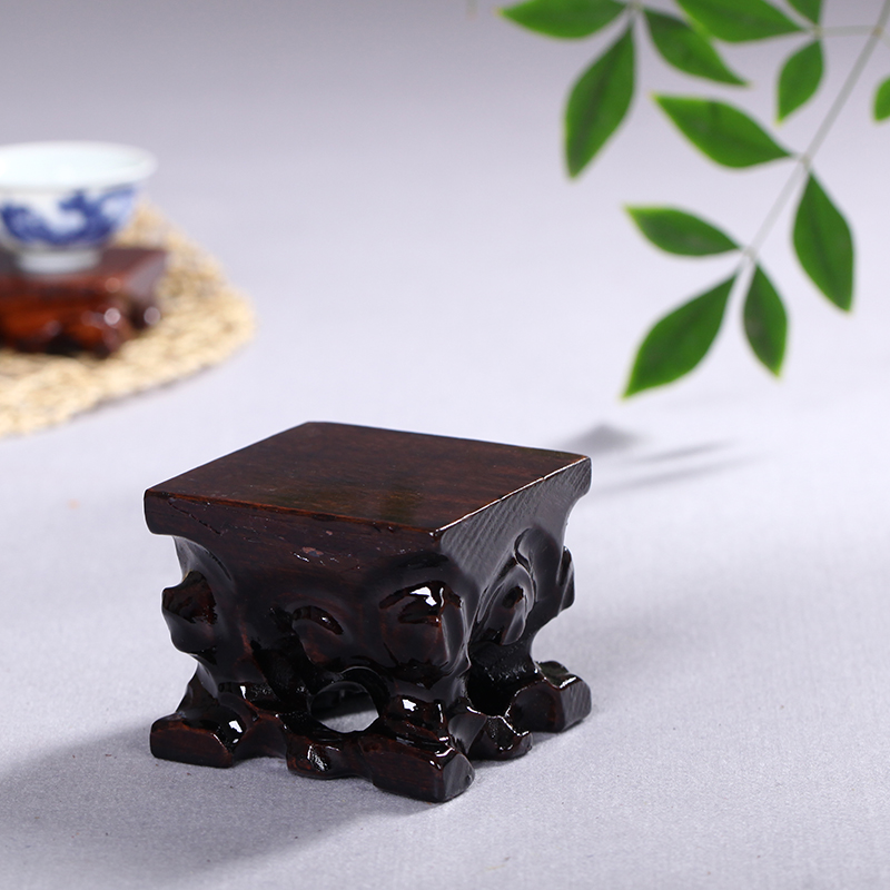 Haolinxuan Wood Art Root Carving Square Root Base Teaware Base Vase Base Base