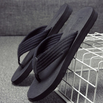 Slippers male Summer non-slip sandals outside personality outdoor sandals Korean version of the trend of soft bottom beach flip flops