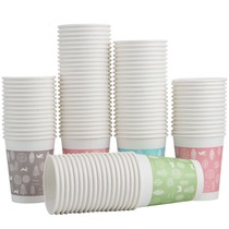 Effective 9563 thick paper cup 100 loaded 250ml disposable cup easily deformed odorless office Cup