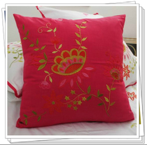 Special foreign trade brand bed rose Red cotton embroidered cushion pillow pillow 50*50cm Butterfly Fly