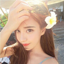 Seaside Beach Resort Flower egg flower hairpin side Clip Headwear Hair accessories Head Flower Jewelry