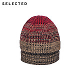 SI Ryder SELECTED men's color-mixed woven knit hat in baotou F|41546F001