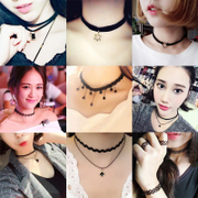 South Korea jewelry necklace neck neck collar female student Choker male short chain necklace decoration simple clavicle