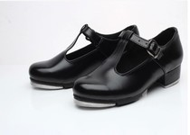 Dansi show new tap dance shoes female models t-shoes imitation leather teacher dance shoes childrens tap shoes