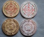 Shipping 40mm 1 set of 4 commemorative coins and silver gilt on the Mayan calendar of the commemorative coins