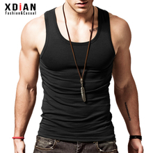 Continued Men's vest male cotton youth breathable cotton Slim type sports fitness tight sleeveless hurdles