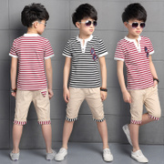 Children with boys summer suit 2017 new 5 children in 7 men 10 12 15 years old boy short sleeved summer