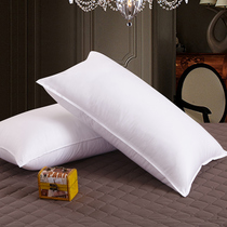 Anti-feather fabric can be washed pillow a pair of authentic cotton single feather velvet Core five-star hotel neck Pillow