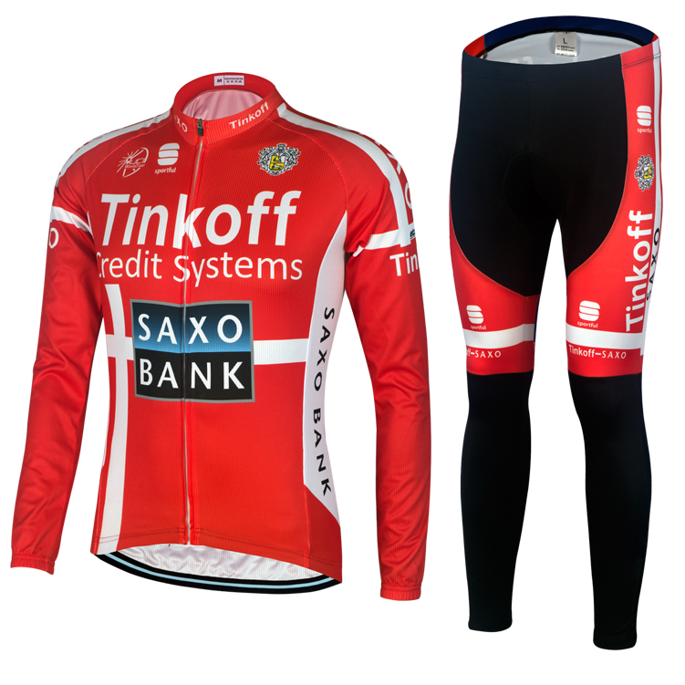 Special package 15 bank red cycling suit, long jacket, long trousers ring cycling equipment batch zero