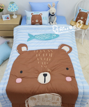 Special offer (Aika family) Korean purchase bed cute bear Korean block quilting quilt A181