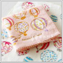 Special export of Japans original Single-Jin Sen dry air balloon cotton embroidered small square towel womens hand-made hand-cut mark.