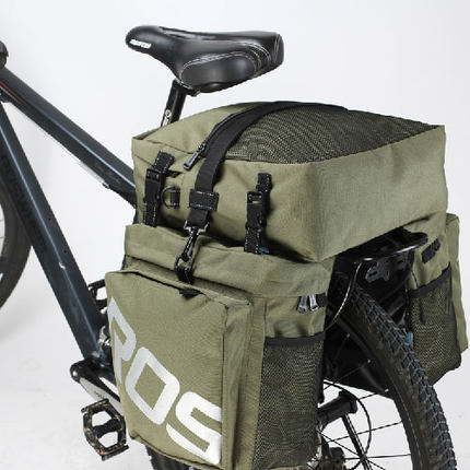 Le Xuan bicycle mountain bike bag after the shelf package large capacity waterproof long-distance Sichuan and Tibet riding camel bag equipment