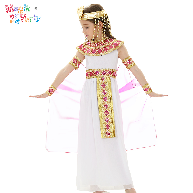 Halloween Children's Performance Costume Cos Performance Costume Girl Ancient Egyptian Greek Princess Skirt Costume