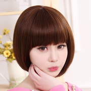 Bess wig female short hair and straight hair neat bang BOBO head South Korea top caps whole vivid natural high temperature wire sets