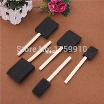 Foam Brush Sponge Wooden Handle Art Craft Painting Varn