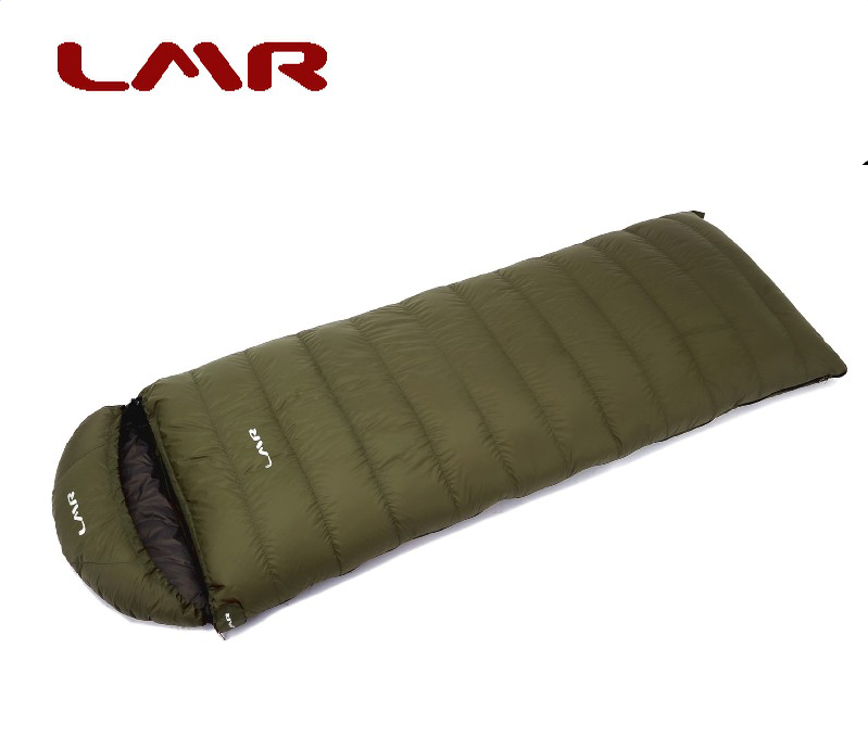 LMR Down Sleeping Bag Envelope Type Adult Outdoor Ultra Light Winter Thickening Camping Down 1200g Comfort-18