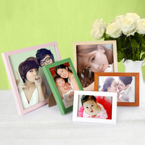 Solid wood Photo Frame 5 6 7 8 10 12 inch A4 simple hanging wall pendulum creative children picture frame photo wall frame