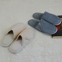 Hotel Slippers Beauty Salon Home slippers thick bottom non-disposable hospitality travel cotton tow fluff warm autumn and winter