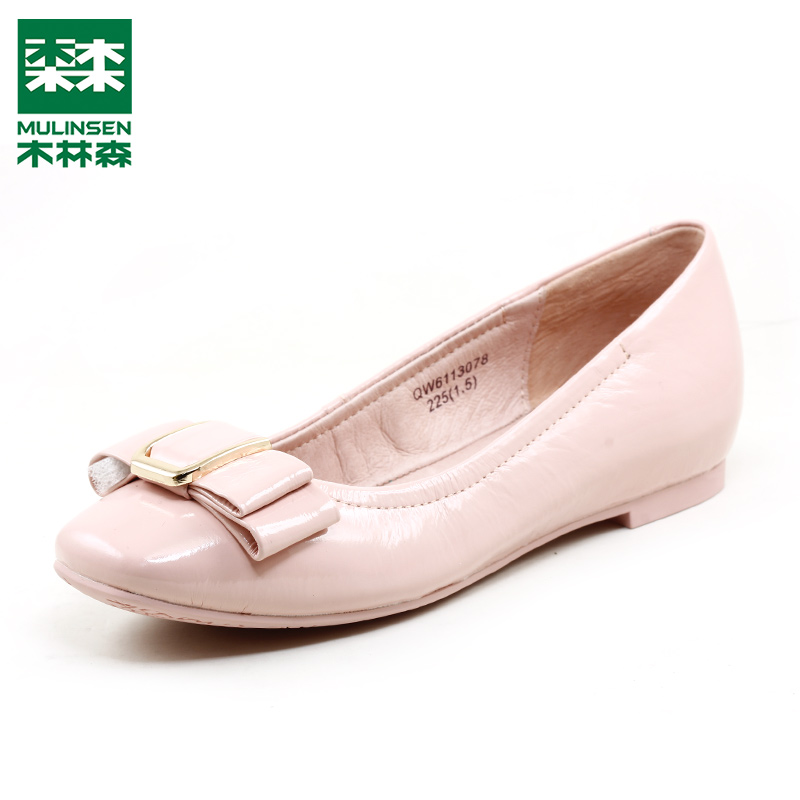 Mulinsen women's shoes are authentic first-class cowhide casual women's single shoes. Square head, shallow mouth, flat heel, spring and summer style