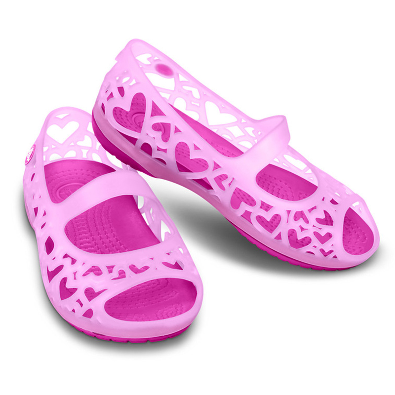 Summer crocs kaluochi fashion casual comfortable children's shoes breathable heart-shaped shoes sandals 14094