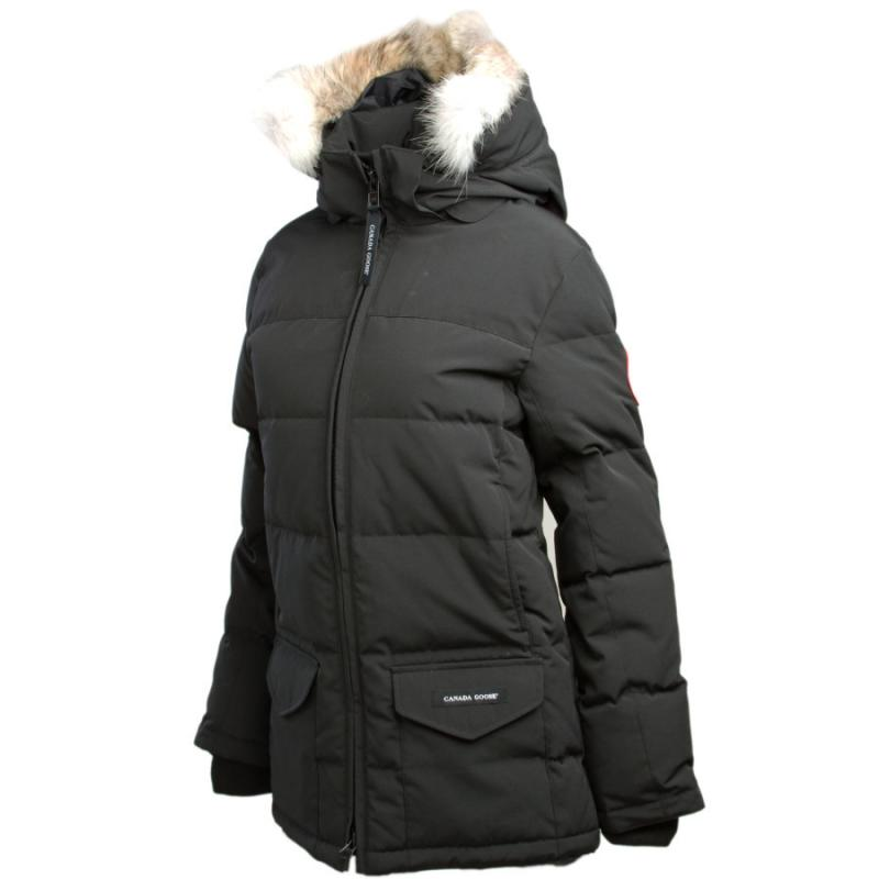[The goods stop production and no stock]American direct mail Canada Goose B5035T winter warm fur collar hooded long section striped down jacket women