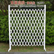 hot garden wooden white retractable carbonized wood fence stretching fence mesh fence wedding props