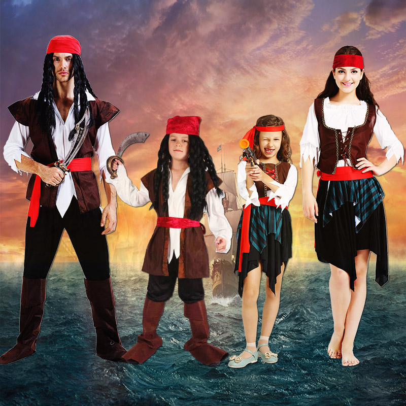 Cosplay Clothes, Halloween Clothes, Adult Pirate Costume Men Cosplay Caribbean Female Pirate Costume Halloween Pirate Jack Captain
