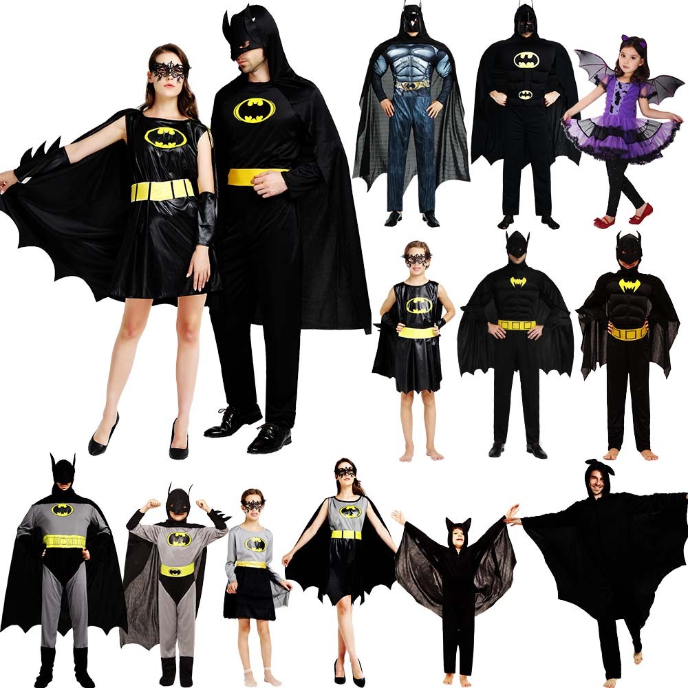 Cosplay Clothes,Halloween Clothes,Halloween cosplay props clothes masquerade stage adult men and women muscles Batman costume adult