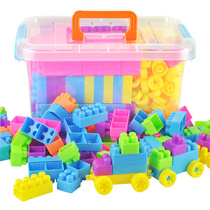 Creative blocks containing bigger particles together take the development of childrens educational toys puzzle assembled together into blocks