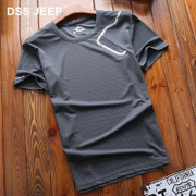 DSS JEEP sports T-shirt, jeep, summer sweethearts, men and women T-shirt, outdoor running, fitness short sleeved fast drying clothes