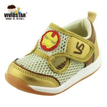 Spring and summer function iron man style sandal baby soft bottom shoes boys toddler shoes Velcro