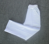 School uniforms trousers Pure white school trousers Spring and autumn cotton comfortable neutral school pants class Clothing