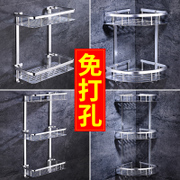Bathroom shelf toilet wash Taiwan Restroom storage shelf wall suction cup wall perforation free
