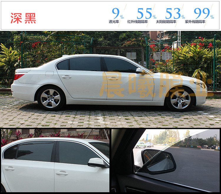 Baoyou Deep Black Vehicle Film Coating Vehicle Solar Film Side Back Glass Flameproof and Heat Insulation Film