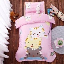 Kindergarten quilt three sets of pure cotton core baby bed