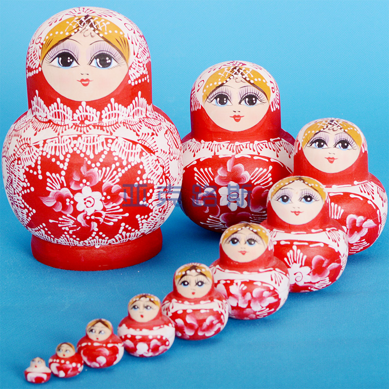 YAKELUS Authentic Basswood Original Genuine Gift Russian Matryoshka 10-layer 1086