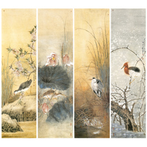 Gongbi sketchbook Physical print four screens Spring summer autumn and winter 36 * 132 Total of 4 sets with color map p05T