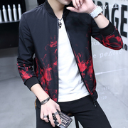In the spring of 2017 new Korean men's coats jacket male young students during the spring and autumn tide thin handsome gown