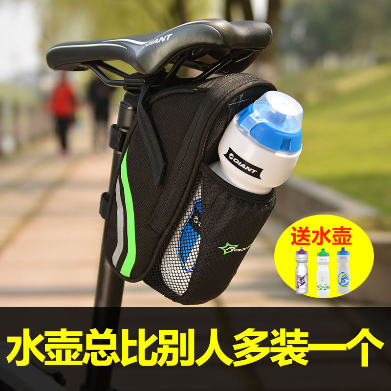 Rock brothers bicycle bag tail bag mountain bike kettle bag folding car rear seat bag riding cushion accessories