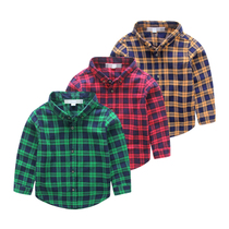 Collar shirts for children childrens wear in autumn 2016 new wave spring and autumn Plaid baby boys long sleeve shirt children wear