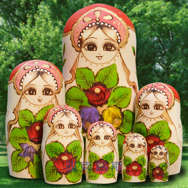 (YAKELUS) Yakelus authentic Alder genuine original gift Russian matryoshka 7 0708