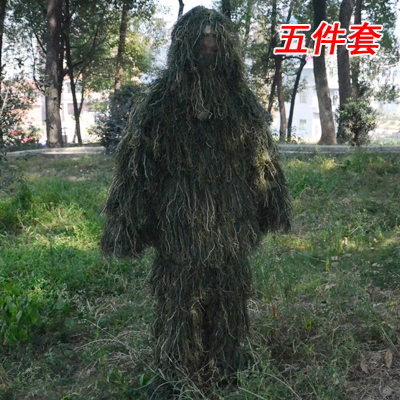 Wool camouflage clothes camouflage clothes 5 sets of lucky clothes jungle forest camouflage clothes hunting and bird watching life cs package