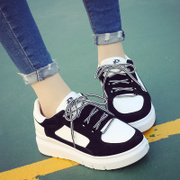 2017 Korean Air Harajuku thick soled casual sports shoes female student summer new simple all-match muffin shoes