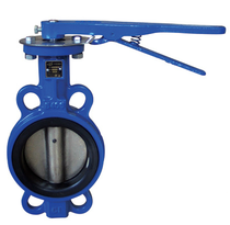 Hebei Yuanda Soft seal midline handle to clamp butterfly valve D71X-16 DN80 DN100 broad valve