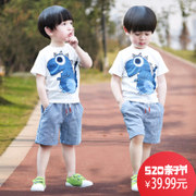 2017 new 1 boys summer Kids 2 children summer 3 4 5 Korean tide clothing 6 years old baby boomers short suit