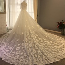 Wedding of Europe and the United States Princess dream Shoulder long trailer