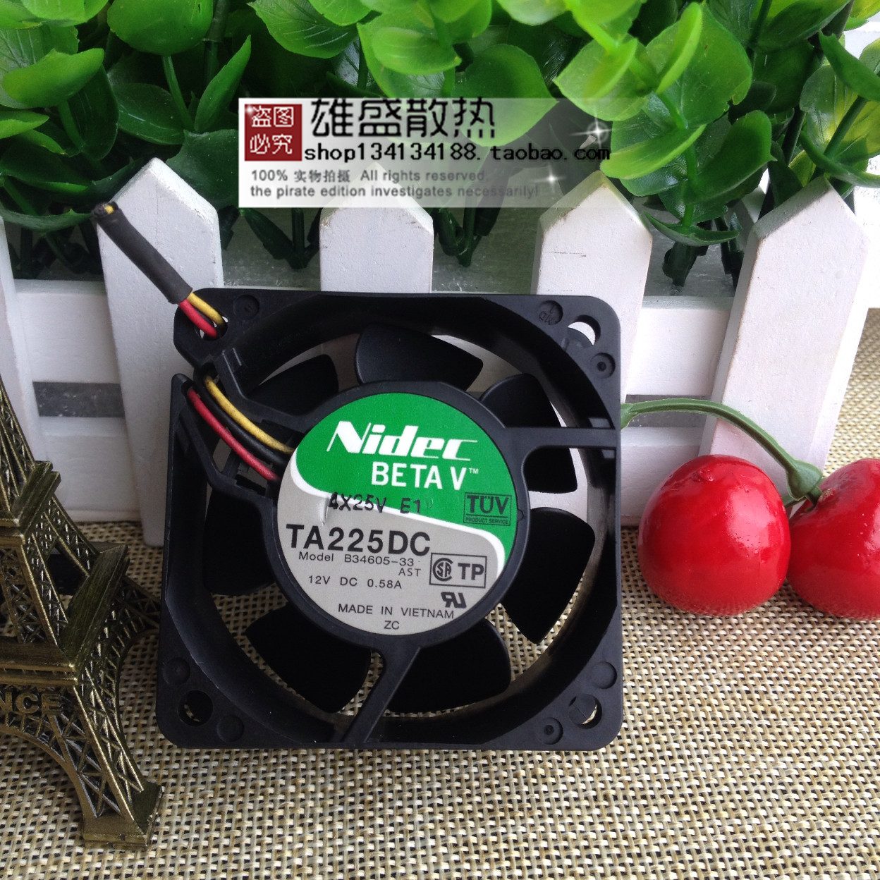Original nidec TA225DC B34605-33 6025 0.58A cooling chassis Inverter Fan